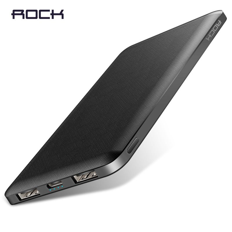 ROCK Slim Power Bank 10000 mAh Portable Charging Ultra thin Powerbank external battery backup pack for iPhone poverbank 10000mah