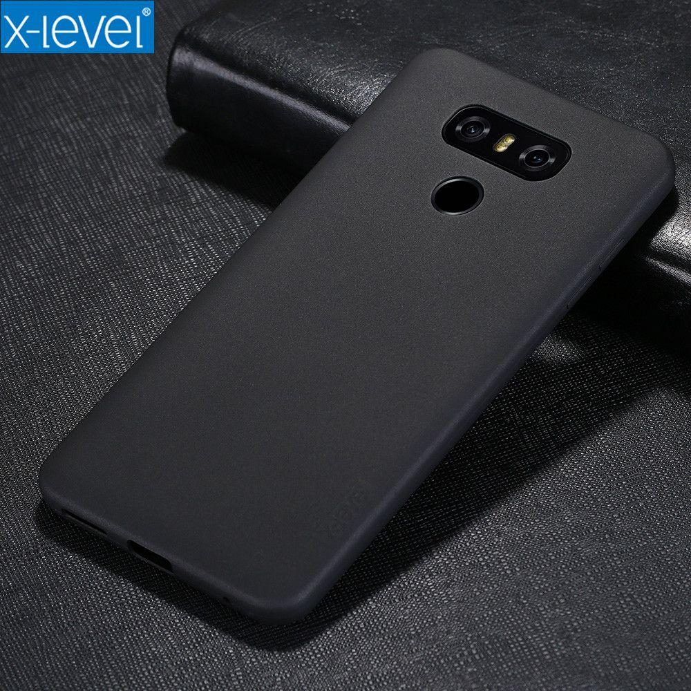 Cas Pour LG G6 X-Niveau Ultra Mince 360 Plein Protection Antichoc Mat Tactile Surface Souple COQUE Arrière en TPU cas Pour LG G6