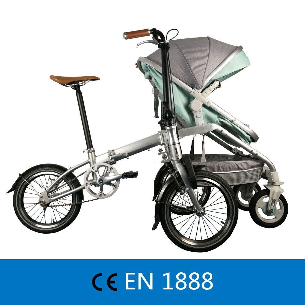 Freizeit Eltern-kind Klapp Fahrrad Cruiser fahrrad Rikscha für Mutter & Baby, Eltern-kind Fahrrad, 2 in 1 Baby Kinderwagen