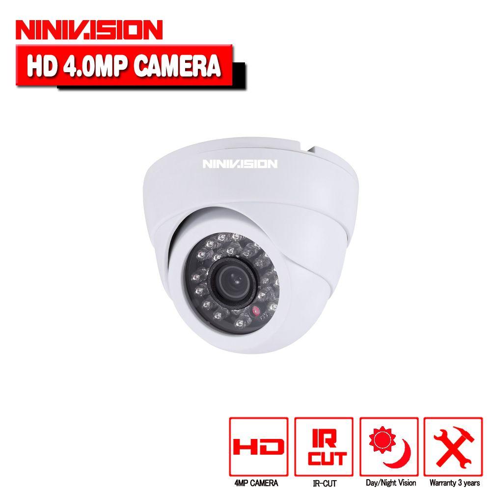 NINIVISION 4.0MP AHD Dome Kamera HD 2560*1440 4MP Indoor Dome Weiß Sicherheit überwachung Kamera CCTV Cam mit 4mp hd objektiv