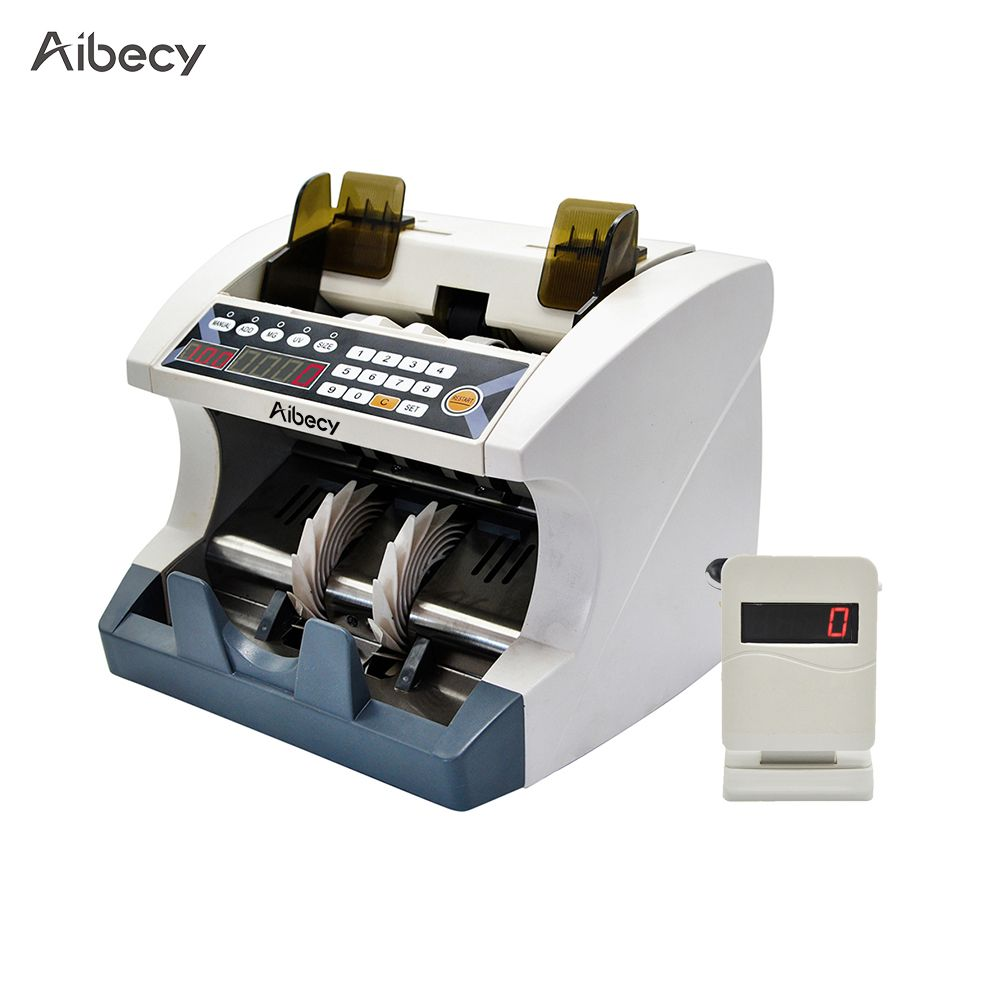Aibecy Multi-Currency Automatic Cash Banknote Money Bill Counter Counting Machine for EURO/USD/GBP/AUD/JPY/KRW company bank