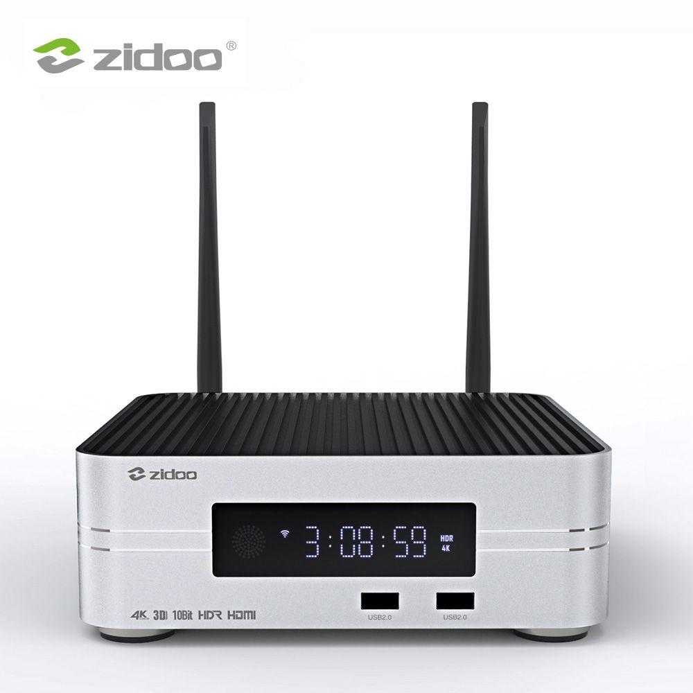 Zidoo Z10 4K HDD Media Player Bis zu 10TB 2G DDR 16G eMMC Smart TV Set top Box 10Bit UHD Automatische Framerate Schalt SDR zu HDR