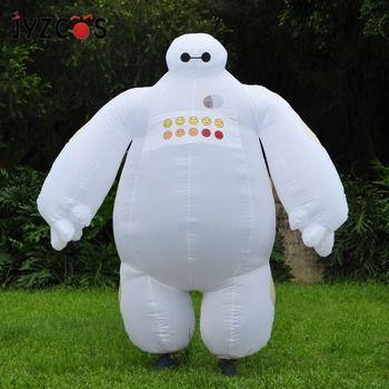 JYZCOS Purim Halloween Inflatable costume Big Hero 6 Baymax Party Cosplay costume for men women adult  baymax Mascot Fancy Dress