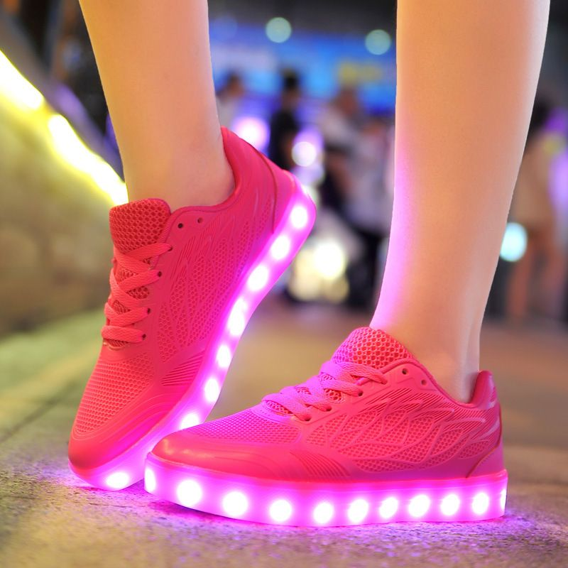 KRIATIV 2018 COOL Luminous Sneakers for Girls&Boys Kids Glowing Sneakers with LED Light USB Charge Suitable Breathable Shoes