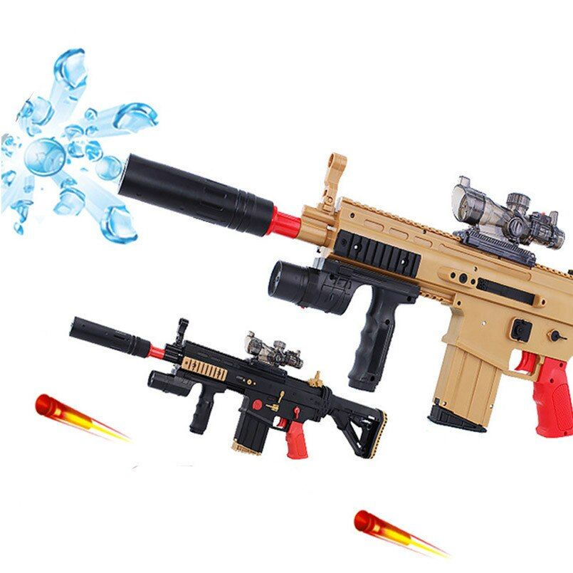 SCAR Rifle Soft Bullet Toy Gun Electric Double-barreled Shooting CS Battle Games Pistols Air Gun Water Bullet Toys For Boy Gift
