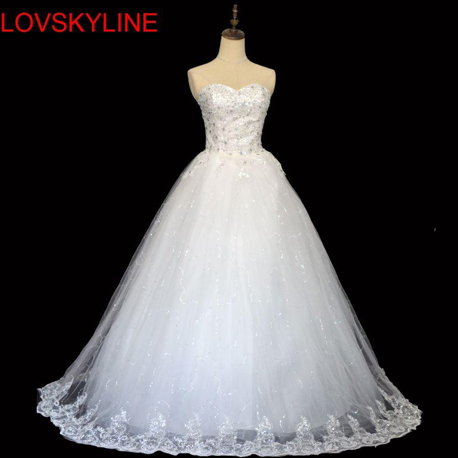 Free Shipping Real Photo Wedding Dress 2017 Sexy Lace Vintage  Plus Size Princess Vestido de Noivas Para Casamento Ball Gown