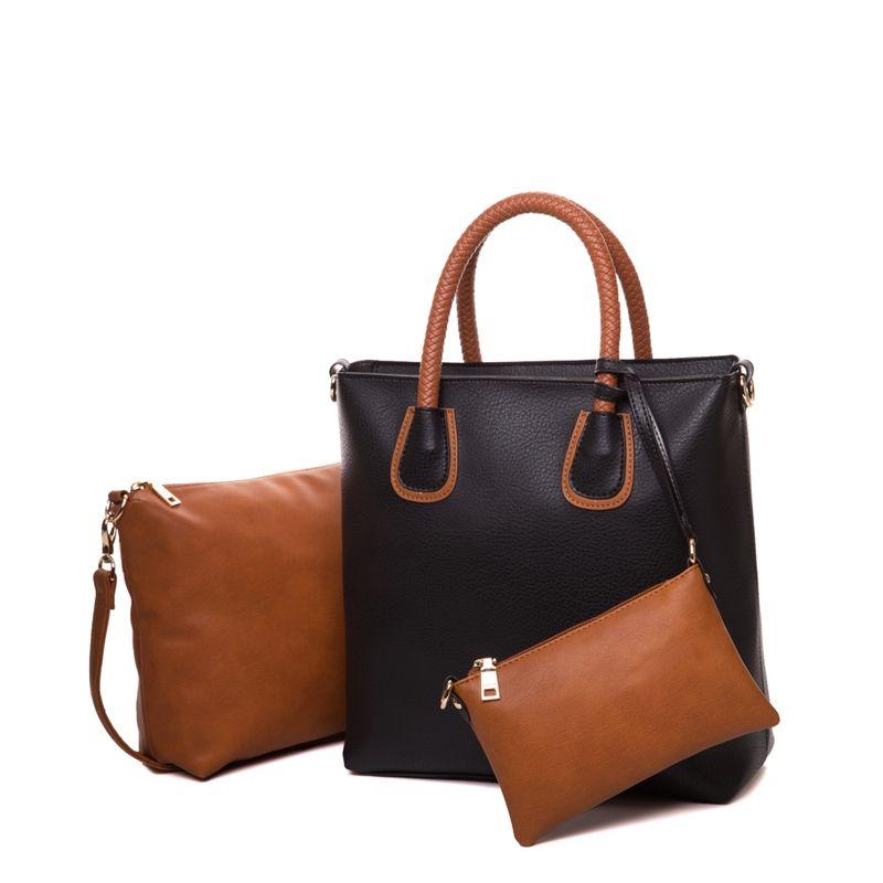 AMELIE GALANTI Frauen Composite Tasche Mode Frauen Schulter Taschen Weiche PU Leder Frauen Umhängetaschen Casual Frauen Handtaschen
