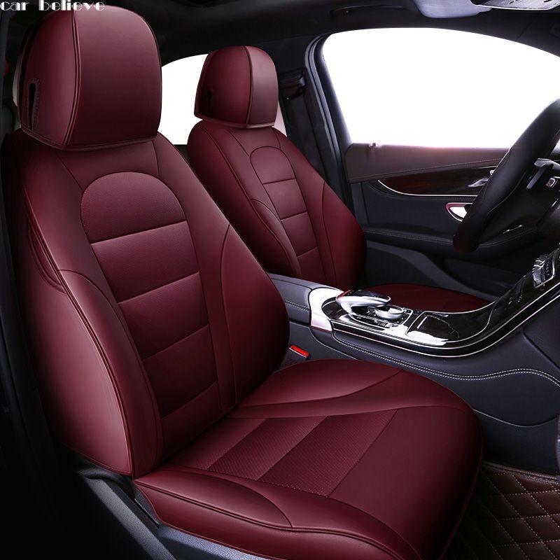 Auto Glauben leder auto sitz abdeckung Für volvo v50 v40 c30 xc90 xc60 s80 s60 s40 v70 zubehör abdeckungen für fahrzeug sitze