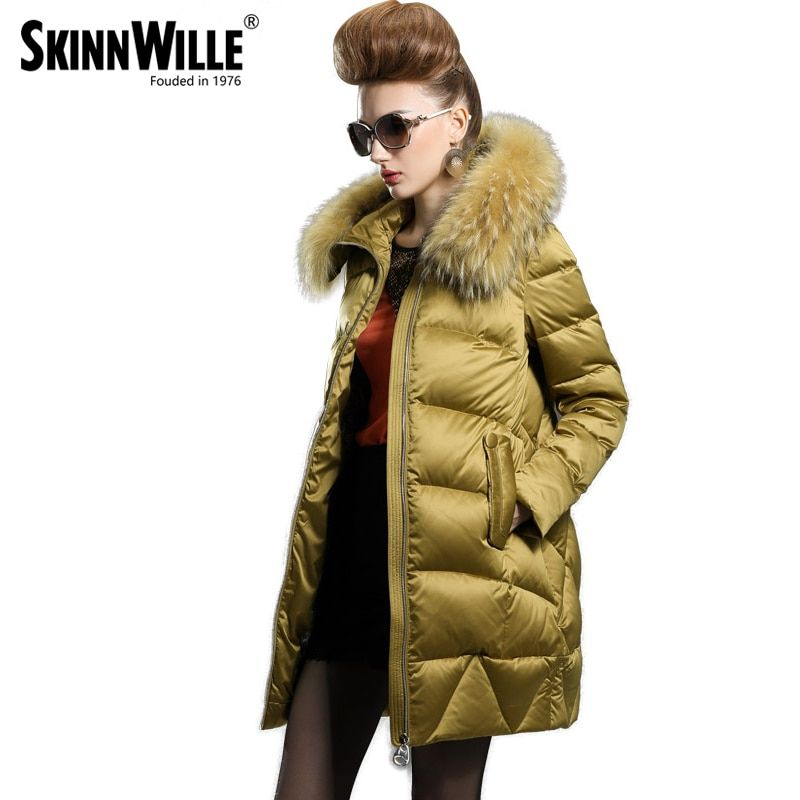 Luxury female medium-long down coat fashion winter thickening 2017 loose outerwear