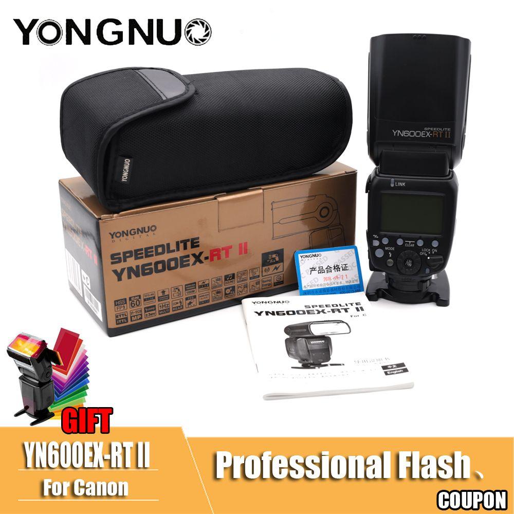 YONGNUO YN600EX-RT II 2.4G Wireless HSS 1/8000s Master TTL Flash Speedlite for Canon 60D 650D Camera as 600EX-RT YN-600EX RT II