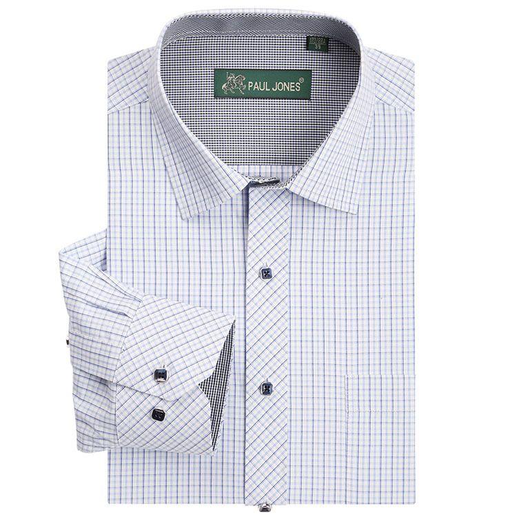 Brand New Mens Camisa A Cuadros de Manga Larga Camisas de Vestir Casual de Negocios formal Camisa Hombre chemise homme masculina