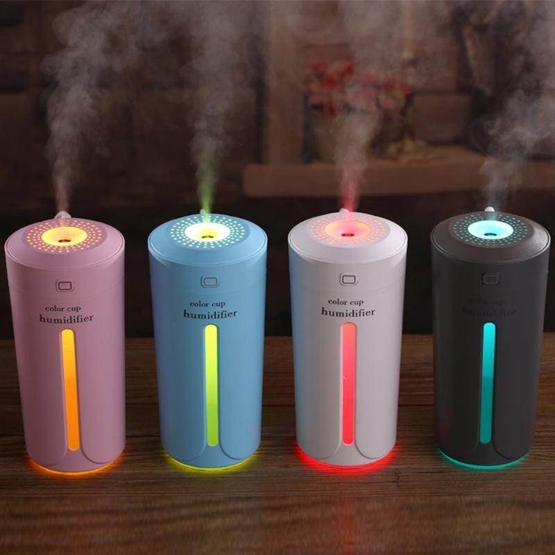 230 ml Ultraschall-luftbefeuchter USB Mini Aroma Diffusor Luftreiniger Led-leuchten Humidificador Tasse für Home Auto Büro