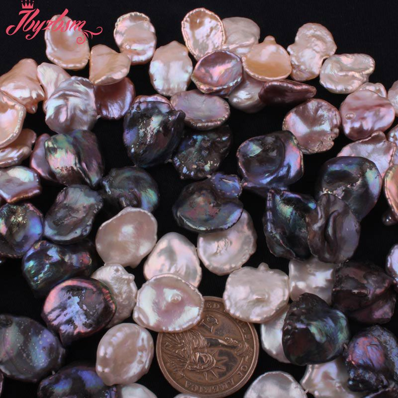 15-20mm Natural Baroque Freshwater Pearl Stone Beads Spacer Strand 14.5