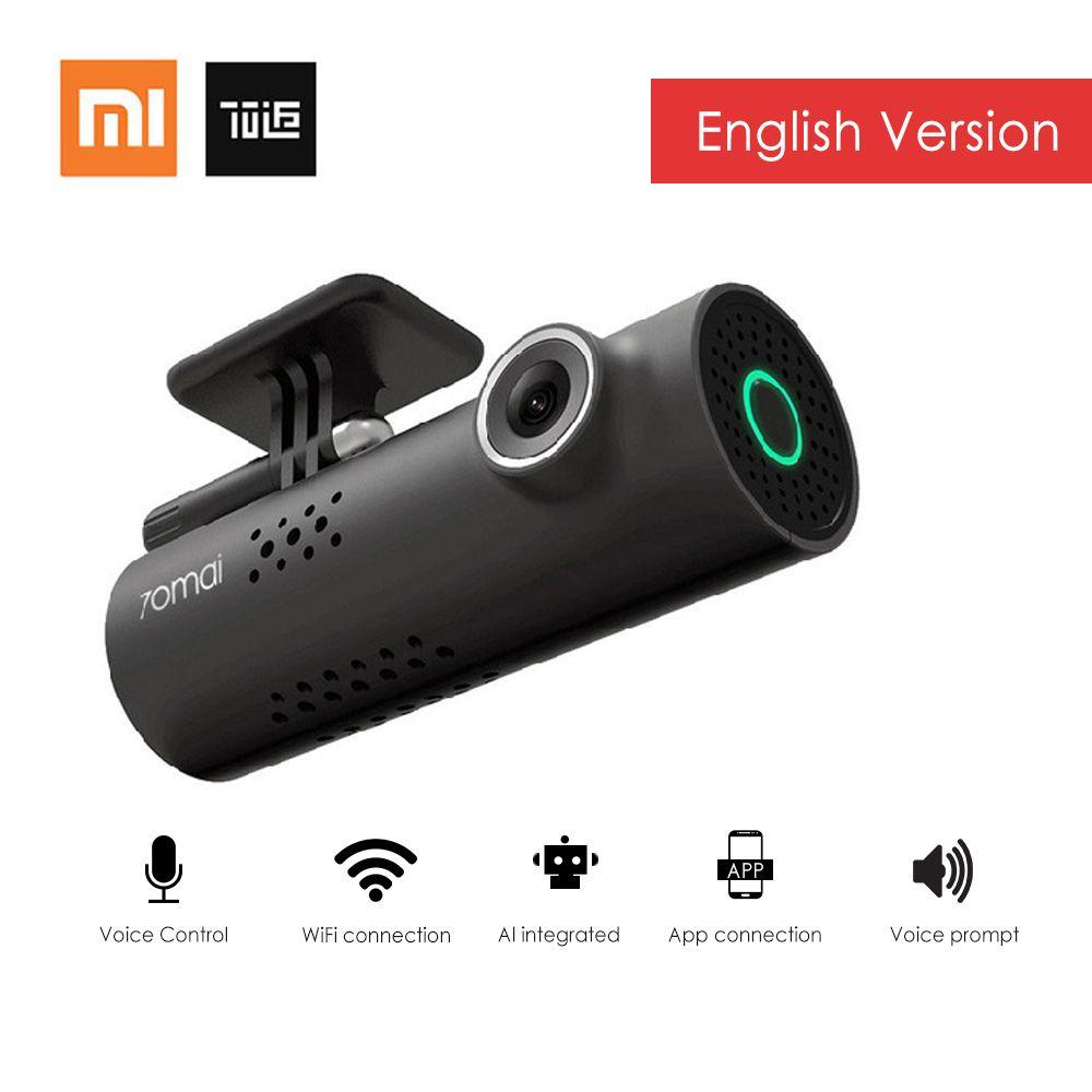xiaomi 70mai Smart Dash Cam WiFi Car DVR English Version 1080P 130 Degree Wide Angle Voice Control Camera Record Night Vision