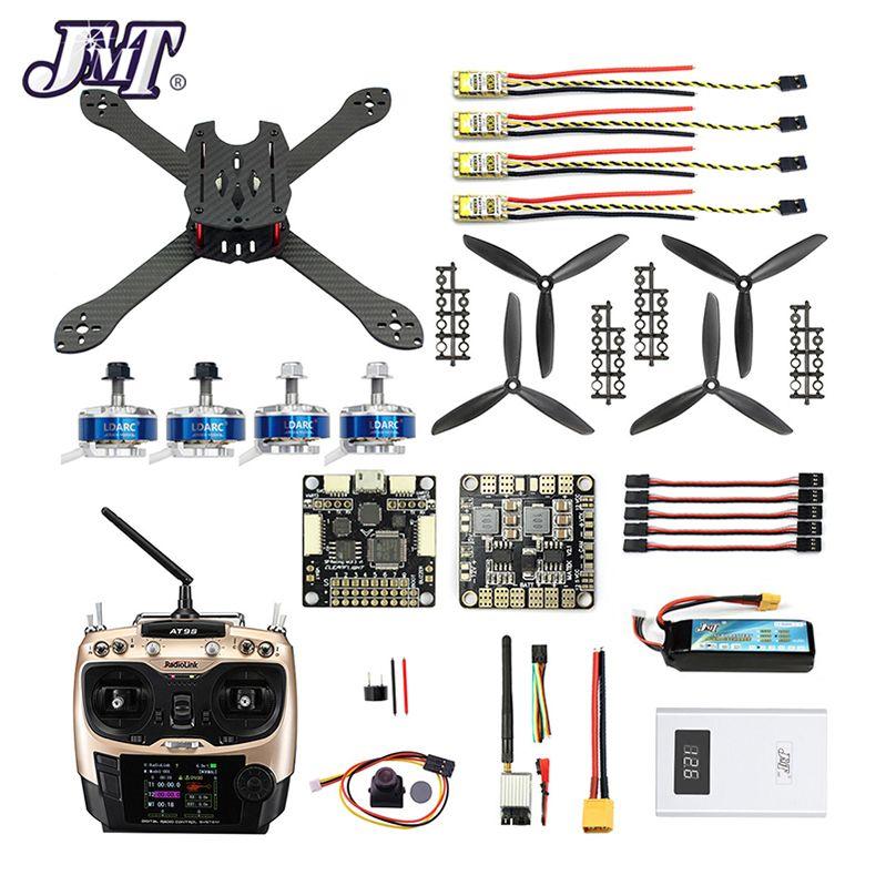 DIY RC Drone Pro SP Racing F3 300mm 2,4G 10CH Sender Carbon Faser Rahmen Bürstenlosen 700TVL Kamera mit FPV Display Quadcopter