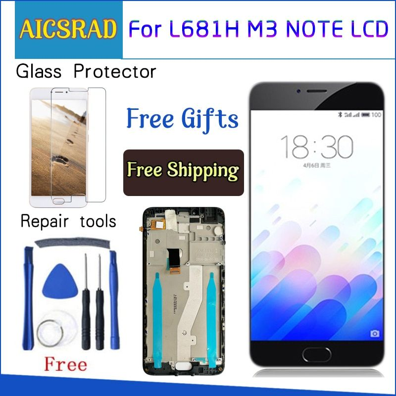 AICSRAD LCD Display +Digitizer Touch Screen Assembly For Meizu M3 Note L681H Cellphone 5.5