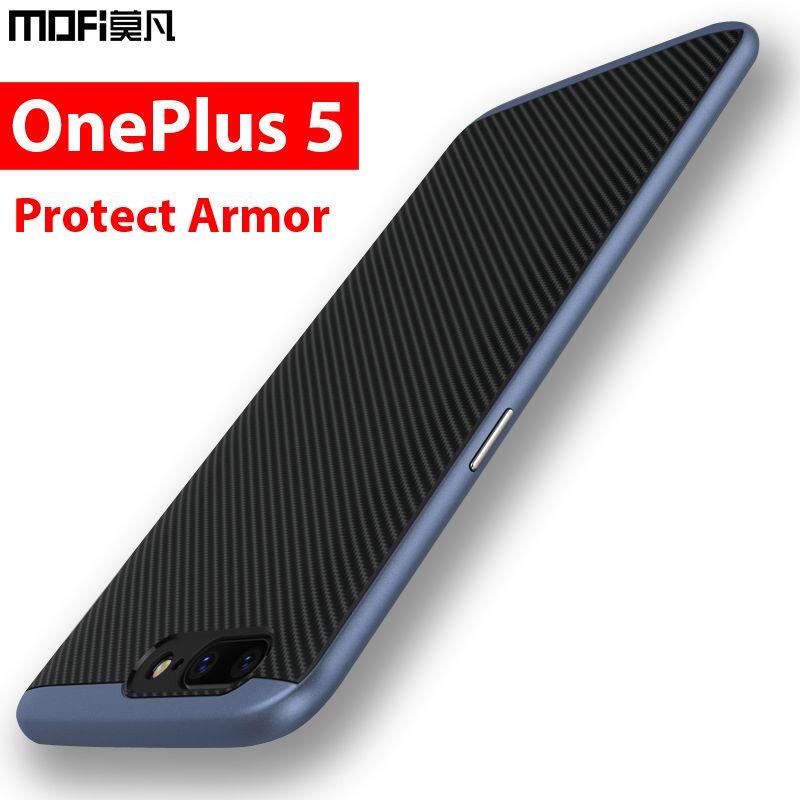 Oneplus 5 case Oneplus 5 cover case back protection bumper armor mofi black men 2 in 1 coque sandstone silicone Oneplus 5 case