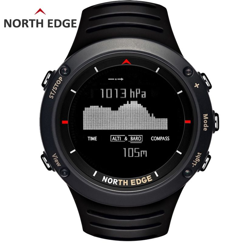 NORTH EDGE Men's <font><b>sport</b></font> Digital watch Hours Running Swimming <font><b>sports</b></font> watches Altimeter Barometer Compass Thermometer Weather men
