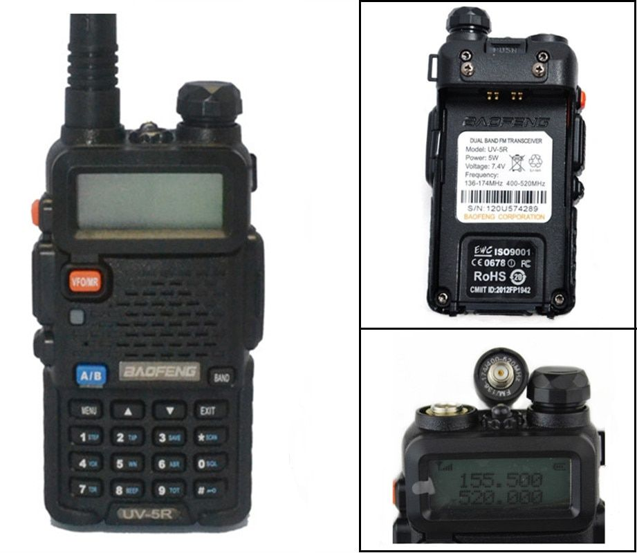 New BLACK/RED/BLUE YELLOW/CAMOUFLAGE BaoFeng UV-5R WalkieTalkie 136-174 /400-520Mhz VHF/UHF DUAL-BAND Two Way Radio