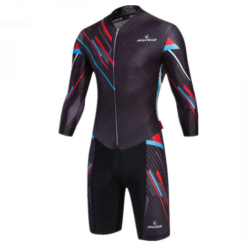Herren Radfahren Sets Schwarz Langarm Skinsuit 2018 Radfahren Jersey Hohe Stoff Ropa Ciclismo Maillot Bike Kleidung Triathlon Anzug