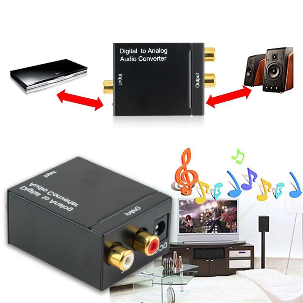 1 Stücke Digital Optical Koaxialtoslink Signal Analog Audiokonverter Adapter RCA Heißer Verkauf