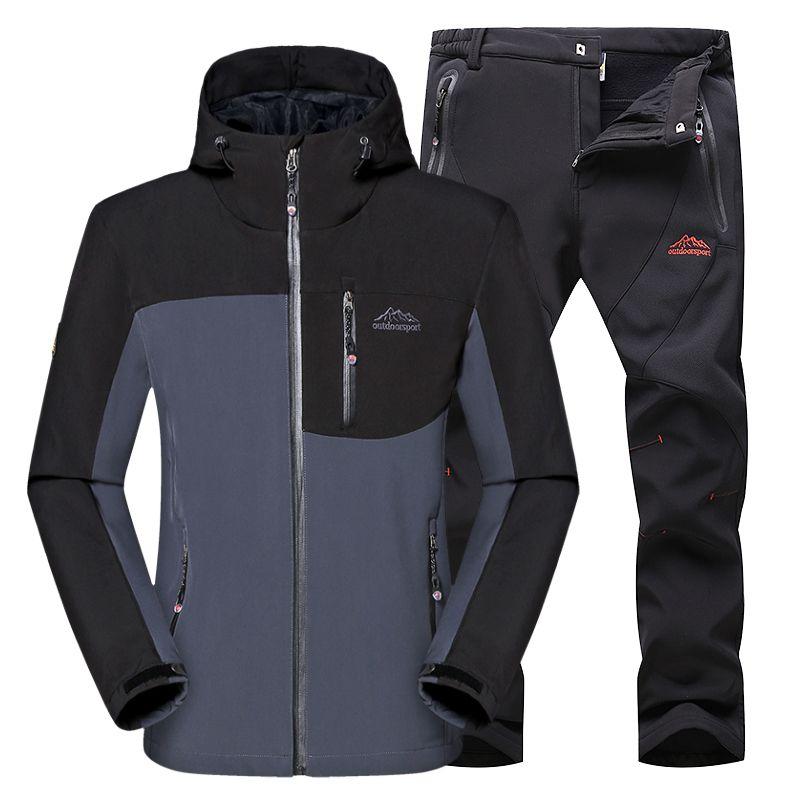 Softshell Jacke Männer Wander-bekleidung Wasserdicht Sport Jacke Winter Sport Jacke Winddicht Outdoor-bekleidung Herren Sport Mantel