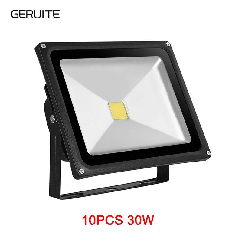 10 pièces LED lumière d'inondation 30W 3000LM IP65 AC 85-265V Proyector Refletor éclairage LED projecteur LED exterieur eclairage extérieur