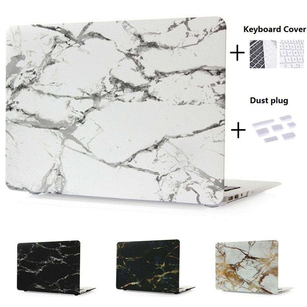 Hard Case Protector With Marble Pattern For MacBook 12 inch Air 11 13 inch Pro Retina 13 15 inch Touch Bar With Keyboard Cover