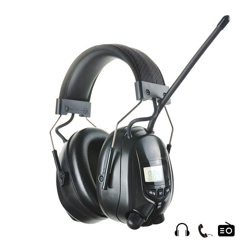 NRR 25dB Einstellbare Elektronische Gehörschutz AM FM Radio Ohrenschützer Rauschunterdrückung Schießen Jagd Gehörschutz-headset