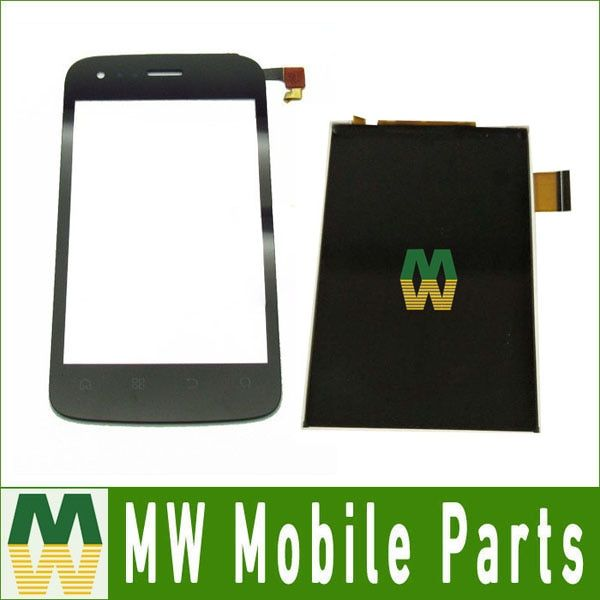 High Quality 1PC/ Lot For Fly IQ245 Black Color Seperate Touch Screen Digitizer And Lcd Display Screen Replacement Part