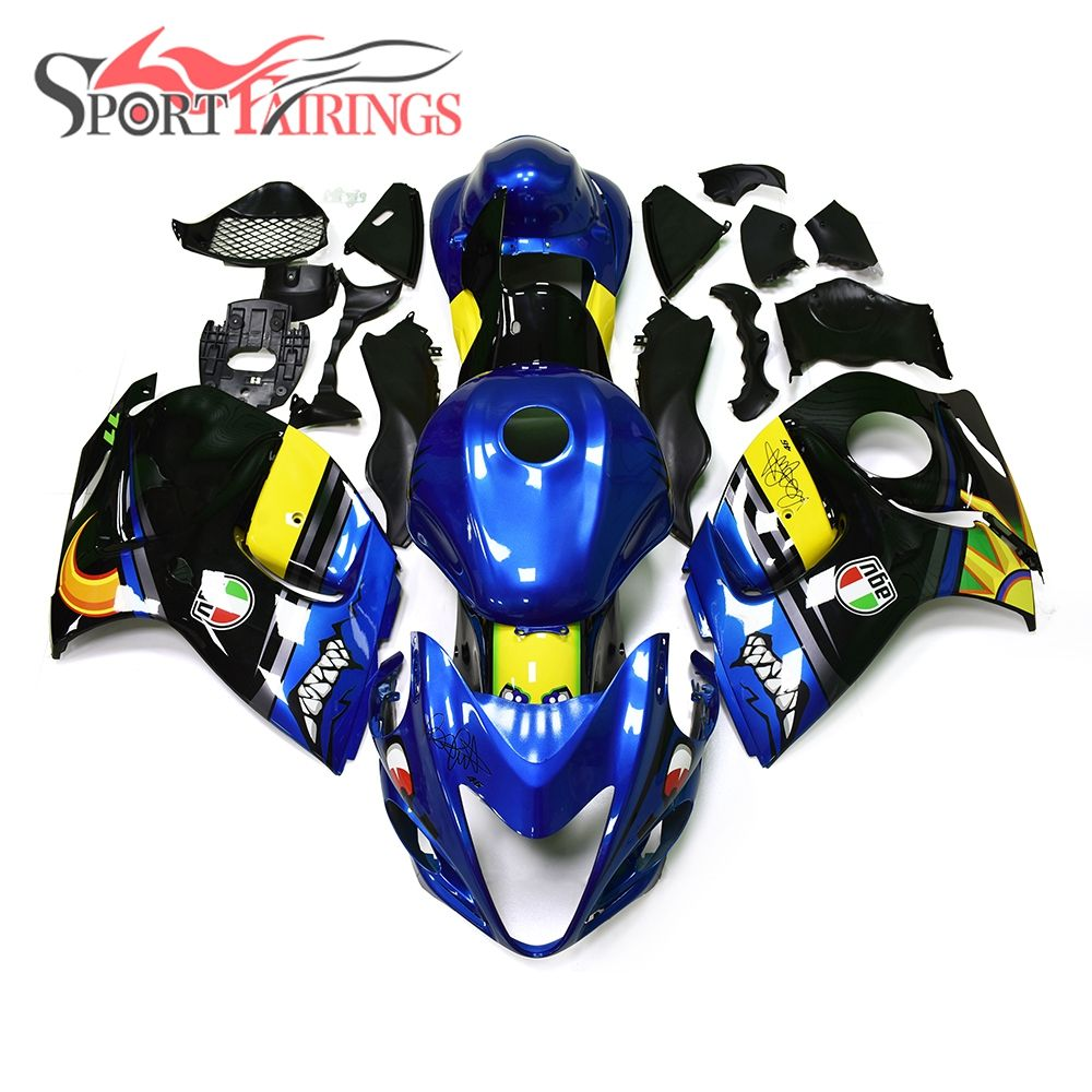 Shark Full ABS Fairings For Suzuki GSXR1300 Hayabusa 08 09 10 11 12 13 14 15 2008 - 2016 Motorcycle Fairing Kits Blue Yellow New