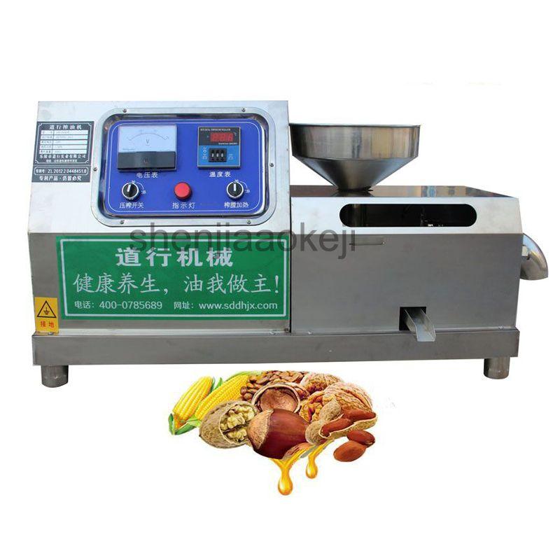Kommerziellen ölpresse maschine haushalt verwenden erdnüsse sesam sonnenblumen soja palm kalte schraube edelstahl öl presse maker
