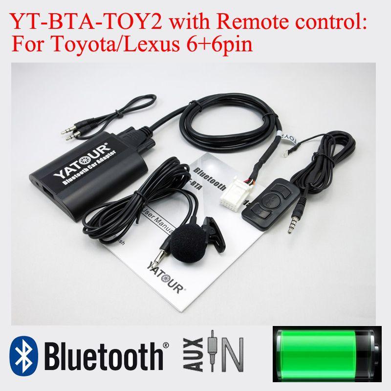 Bluetooth адаптер YT-BTA с пультом дистанционного управления для Toyota Camry Corolla Vitz Lexus Scion 6 + 6pin радио