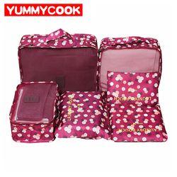 6 шт. сумка для хранения одежды для путешествий обувь туалетный чемодан-органайзер Набор косметический гардероб аксессуары