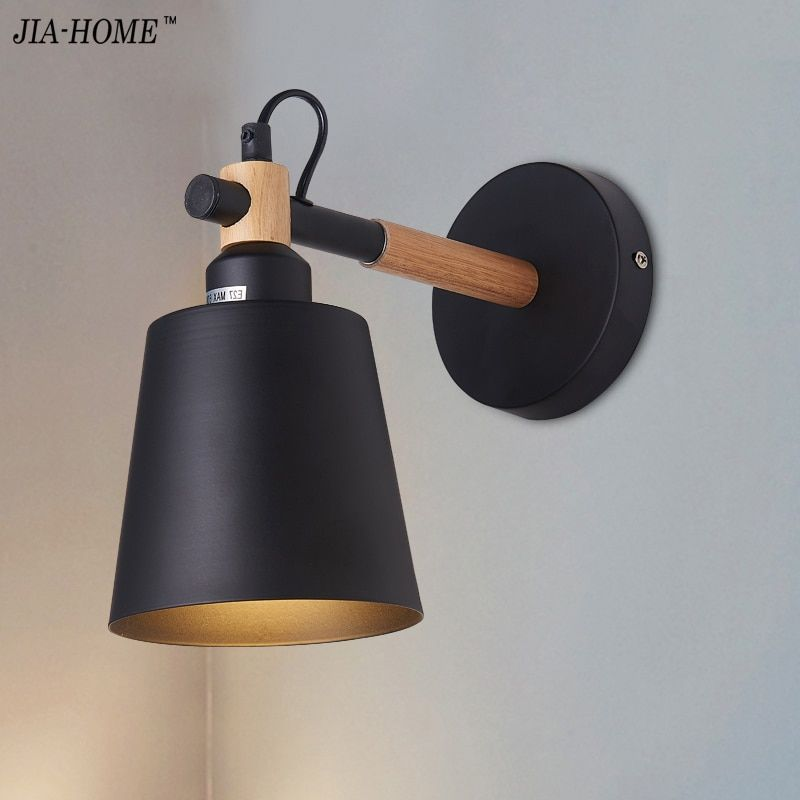 Simple creative wall light led bedroom bedside decoration Nordic designer living room corridor hotel wall lamps Holtel Corridor