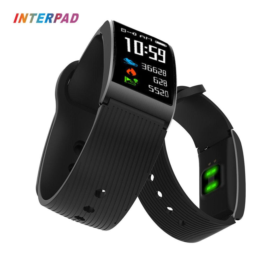 2018 New Interpad Smart Bracelet Fitness Bracelet GPS Bluetooth Support Sleep Monitoring Passometer IP68 Waterproof Smartband