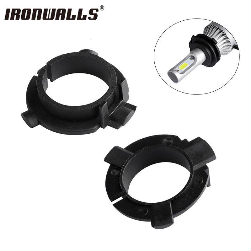Ironwalls H7 Car Led Headlight Adapter Base kit Bulb lamp Holder light chuck for Nissan Qashqai Skoda Veloster Kia Clip Sockets