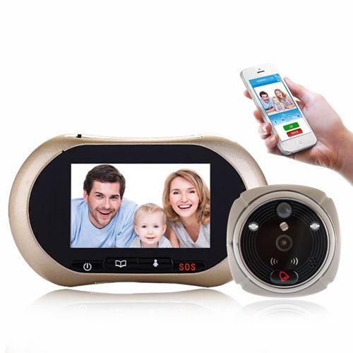 WIFI/GSM Peephole Viewer 3.7 Inch Intercom Video Door Phone