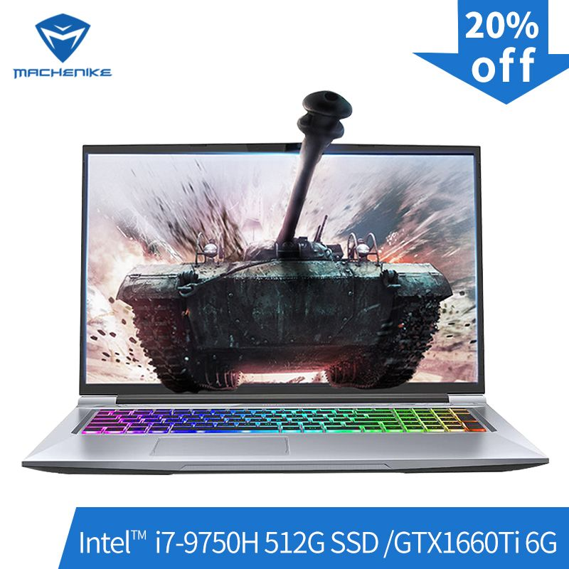 Machenike T90-PLus-TCi gaming laptop (Intel Core i7-9750H + GTX1660Ti 6G/8GB RAM/512G SSD /17,3 ''144Hz) machenike-brande notebook