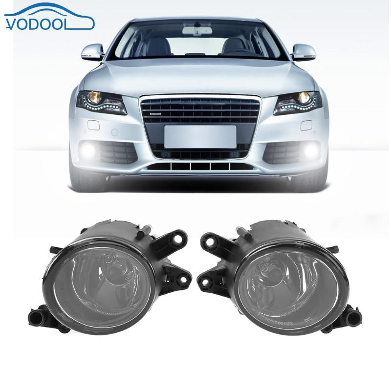 1pair Right Left Car Front Grille Light Front Fog Lamp Replacement for Audi A4 B6 1998-2004 Car Styling Accessaries