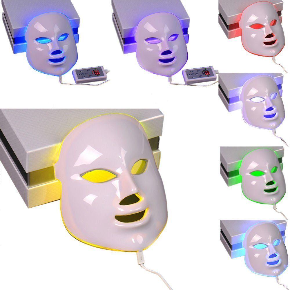 7 цветов Красота Фотон led маска для лица свет Уход за кожей омоложения морщин угорь Уход за кожей лица Красота spa