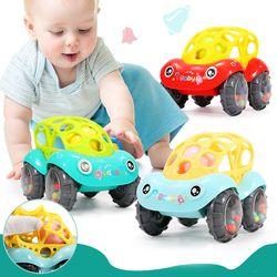 Plastik Bayi Tidak Beracun Warna-warni Hewan Tangan Jingle Shaking Bell Mobil Mainan Kerincingan Mainan Musik Handbell untuk Anak-anak Warna Acak