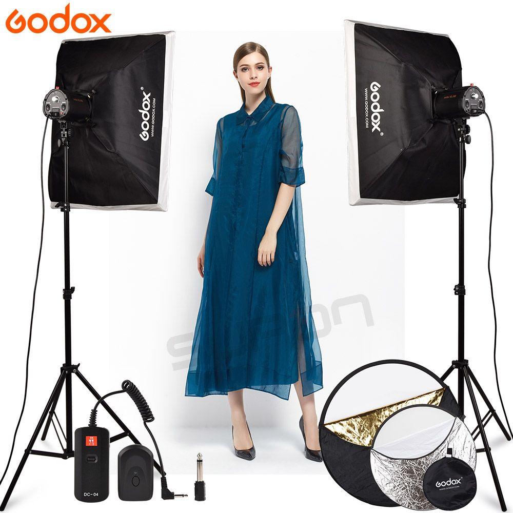 GODOX fotografia Studio Licht 2X160 Ws 160DI Video Strobe-Licht mit Softbox 160DI Kit LED Lampe Mit DC-04 Flash trigger