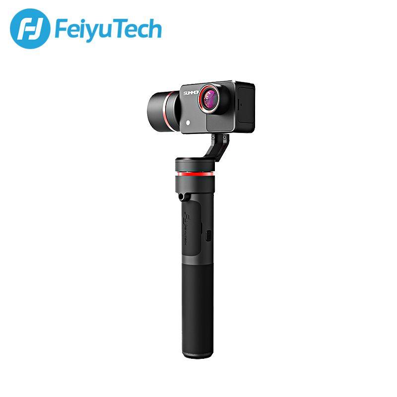 Feiyu Convoquer Plus 3-Axis De Poche Cardan Brushless Caméra Stabilisée avec 4 K 1080 P Action Cam 16 Mega Pixels 2.0 Pouce HD affichage