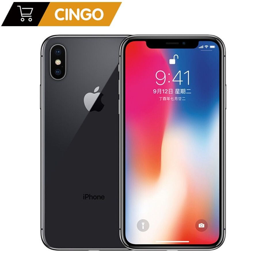 Original Apple iphone X Gesicht ID 64 GB/256 GB ROM 3GB RAM 12MP Hexa Core iOS A11 5,8 zoll Dual Zurück Kamera 4G LTE Entsperren iphone x