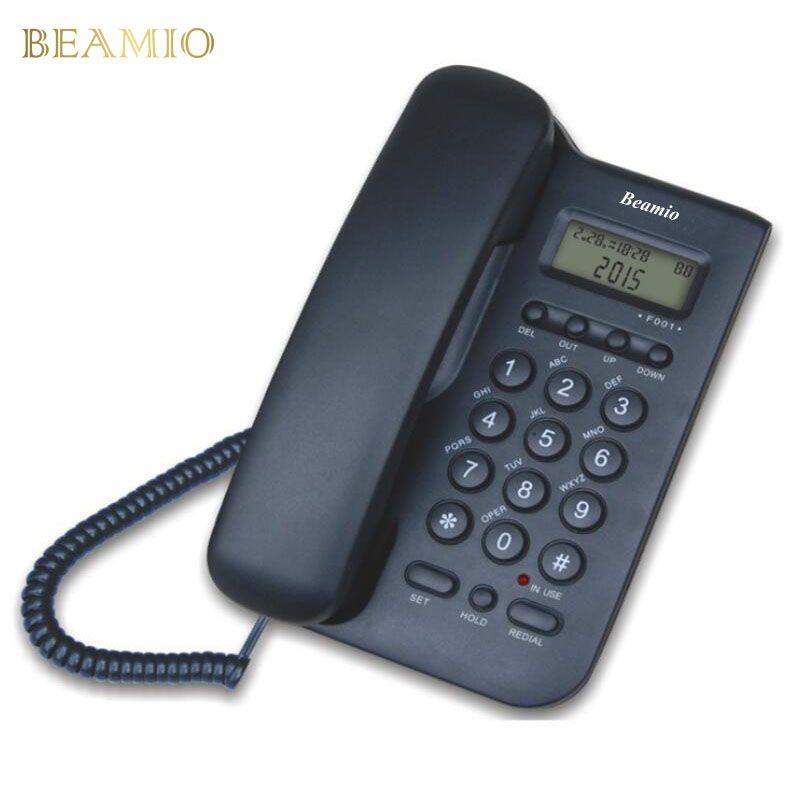 Anglais Version Call ID Téléphone Fixe En Gros Home Office Hôtel Sans Batterie Apporter Puissance Affichage Fixe Téléphone Noir
