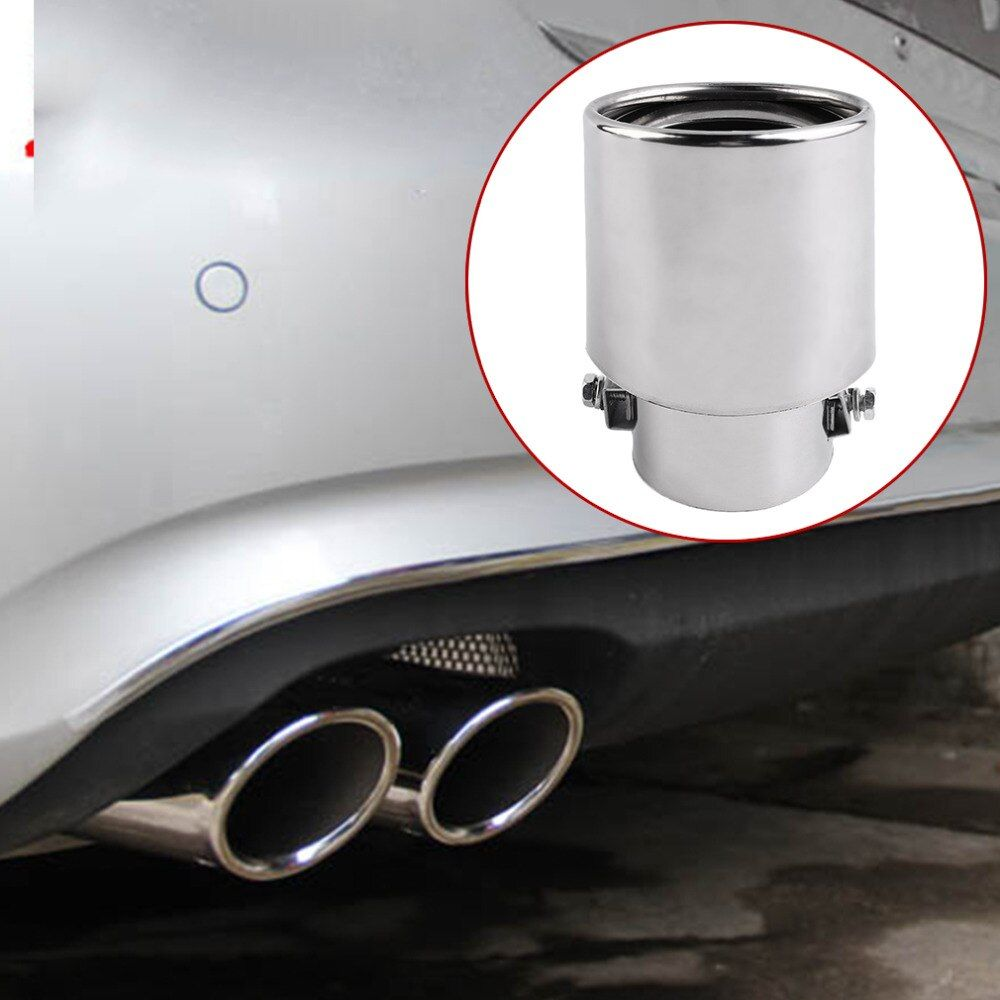 2017 Universal Car Exhaust Muffler Tip Stainless Steel Pipe Chrome Trim Modified Car Tail Throat Liner Pipe Exhaust System Hot