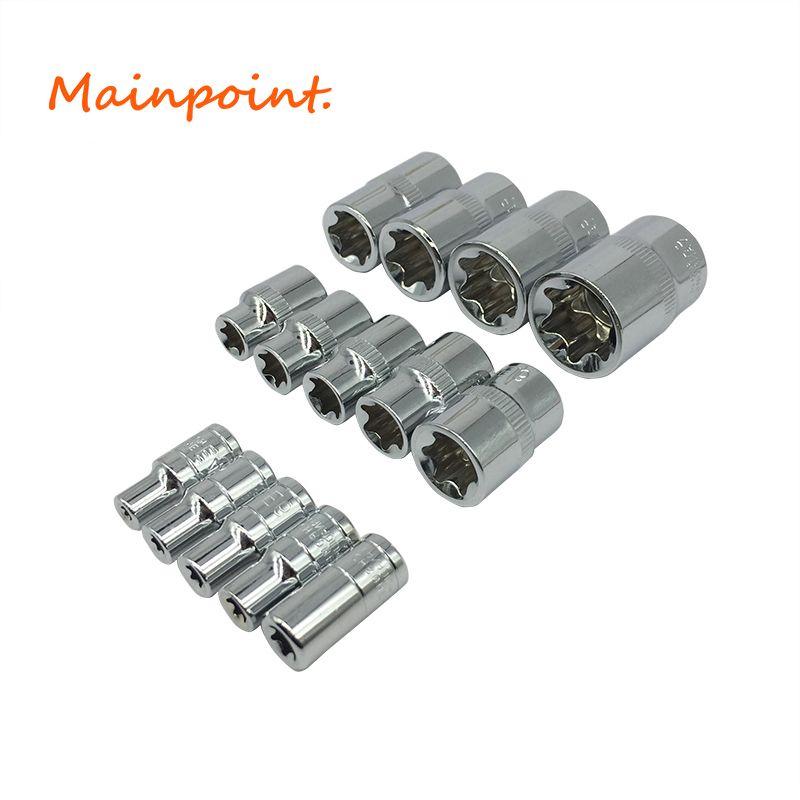 1/4 1/2 3/8 E-Sockel Torx Stern Schraubendrehereinsätze Cr-v Kombination Buchse Muttern Set Für Auto Auto Reparatur Handwerkzeuge Sets