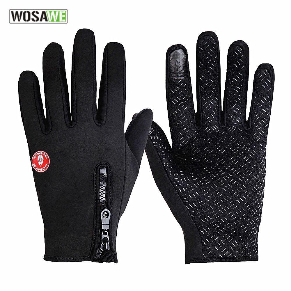 WOSAWE Motorcycle Gloves Spring Autumn Moto Gloves Full Finger Motorbike Luvas Screen Touch Racing guantes motocross Gloves men