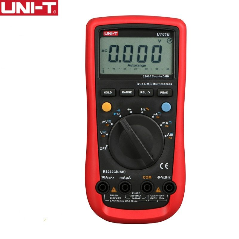 UNI-T UT61E High Reliability Digital Multimeter PC Connect AC DC Voltage Meter Data Hold Relative <font><b>Mode</b></font> 22000 Counts Data Hold